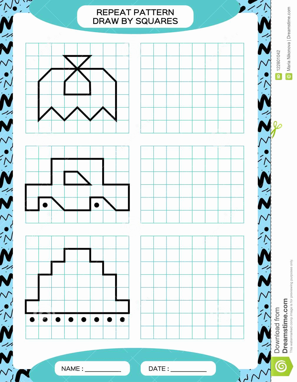 Repeated Pattern Worksheets Best Of Repeat Pattern Tracing Lines Activity Special for