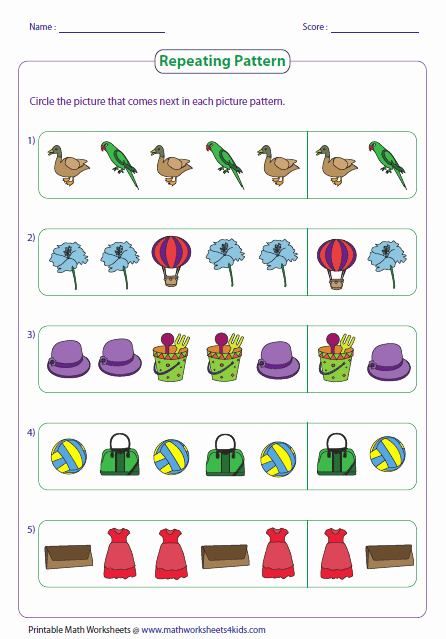 Repeated Pattern Worksheets Lovely Pattern Worksheets