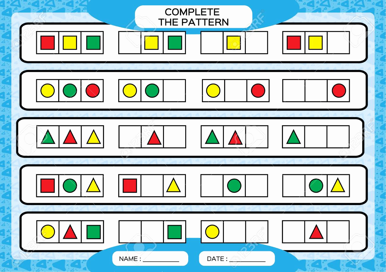 Repeated Pattern Worksheets Lovely Repeating Number Patterns Worksheets