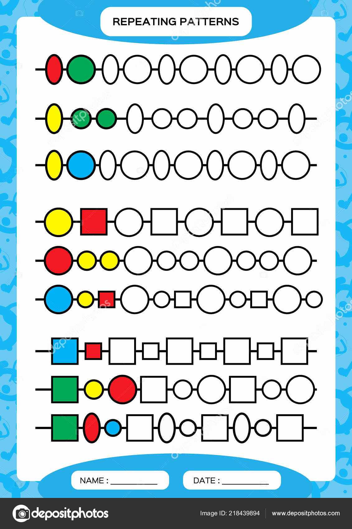Repeated Pattern Worksheets Lovely Repeating Patterns Worksheet