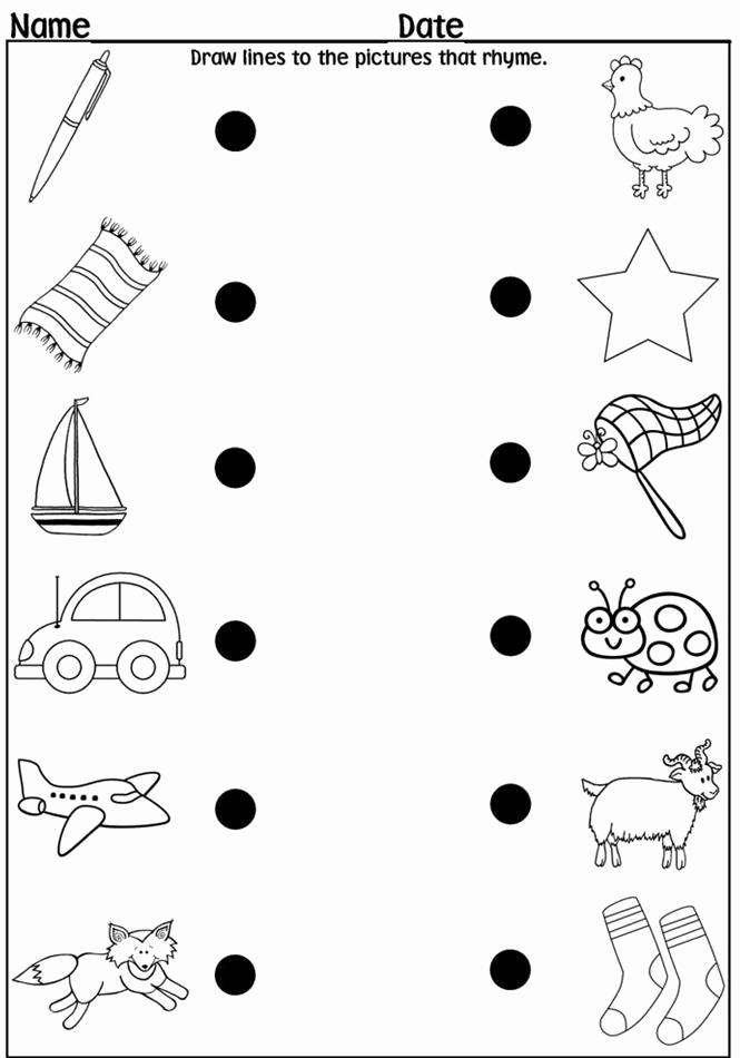 Rhyming Worksheets for Preschool Awesome 12 Best Of Printable Cvc Word Worksheets Ag Word