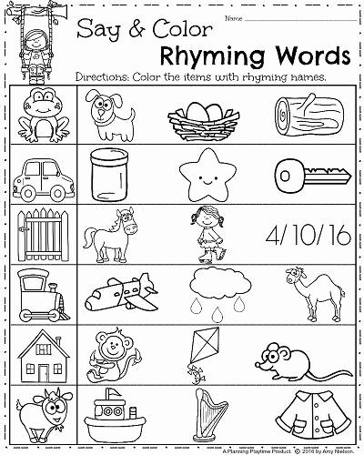 Rhyming Worksheets for Preschool Inspirational Spring Kindergarten Worksheets