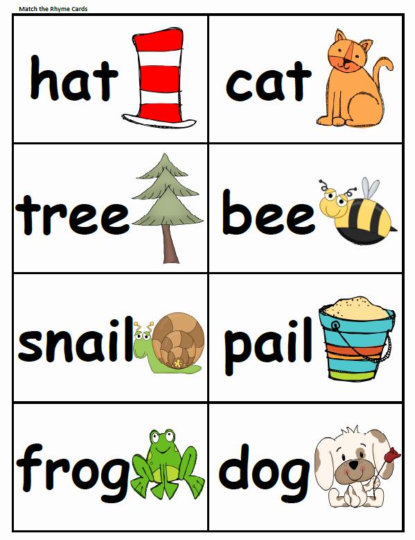 Rhyming Worksheets for Preschool Luxury Peterson S Pad Rhyming Fun Freebie