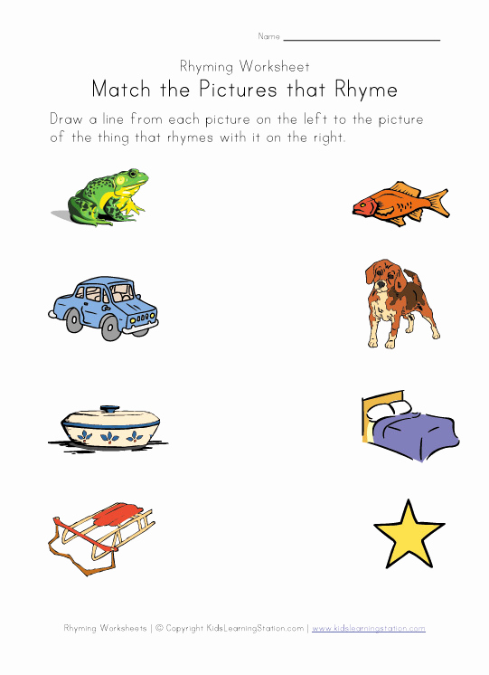 Rhyming Worksheets for Preschoolers Fresh Rhyming Worksheets Phonics for Kids