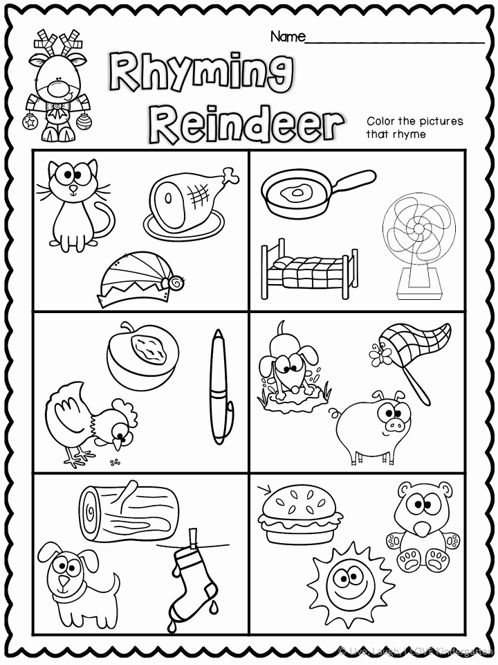 Rhyming Worksheets for Preschoolers Inspirational Rhyming Worksheet