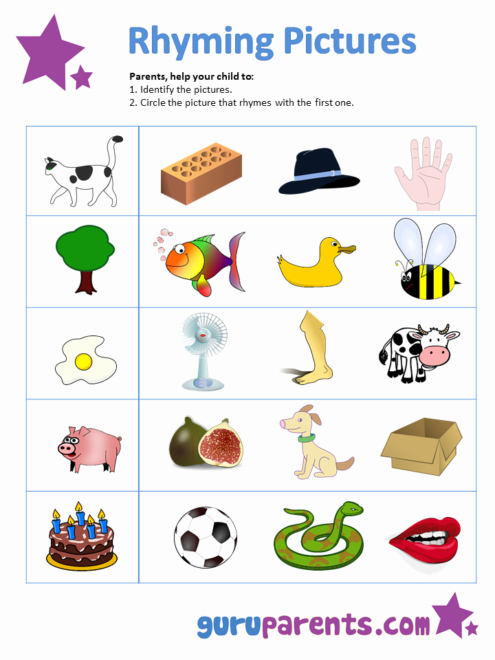 Rhyming Worksheets for Preschoolers Luxury Teaching Phonics & Rhyming