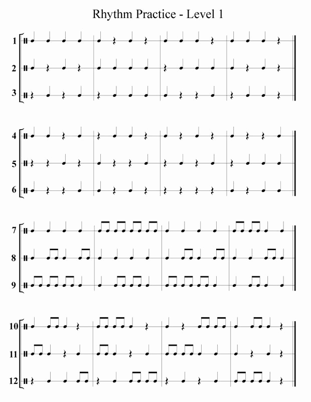 Rhythm Worksheets for Band Inspirational 26 Info Easy Rhythm Exercises Pdf with Video Tutorial
