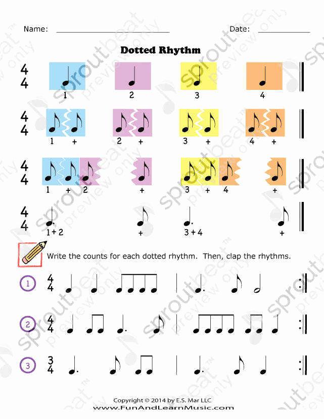 Rhythm Worksheets for Band Unique Rhythm Worksheets