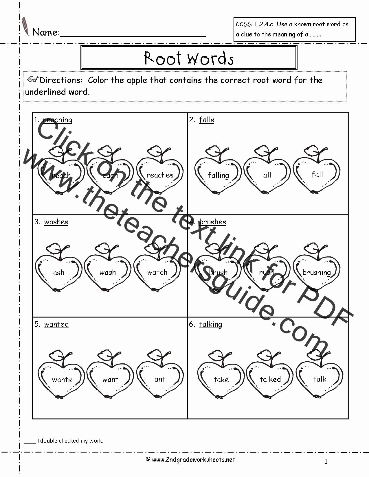Root Words Worksheet 2nd Grade Unique Wonders Second Grade Unit E Week Four Printouts