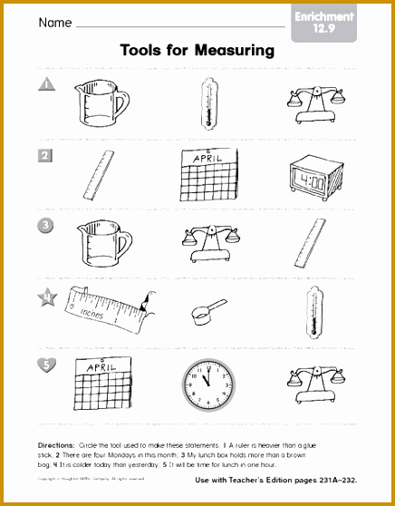 Science Measurement Worksheets Beautiful 4 Measurement Worksheets
