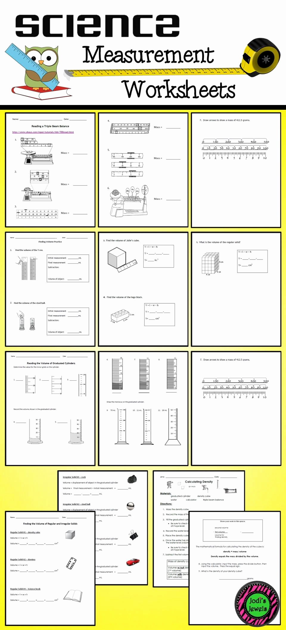 Science Measurement Worksheets Beautiful Teaching Measurement Skills is An Essential Part Of Middle
