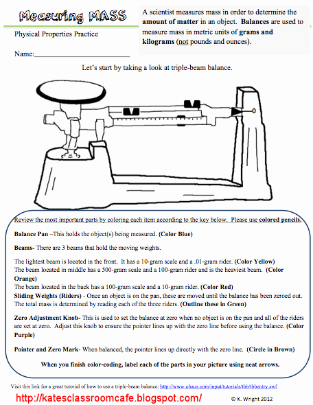 Science Measurement Worksheets Elegant Kate S Science Classroom Cafe Measuring Mass Worksheet