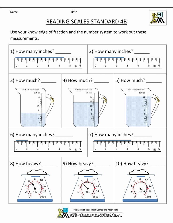 Science Measurement Worksheets Elegant Measuring Worksheets Reading Scales Standard 4b