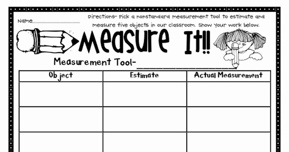 Science Measurement Worksheets Fresh Measure It Pdf
