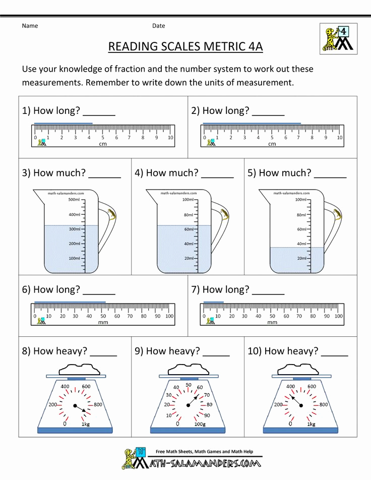 Science Measurement Worksheets Inspirational Activity for Measuring Mass Google Search