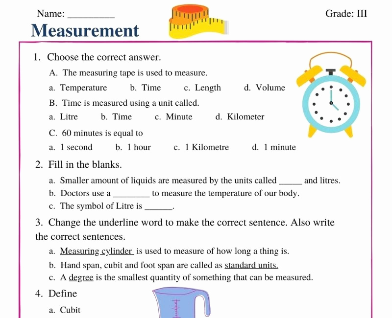 Science Measurement Worksheets Lovely Free Worksheets for Cbse Science