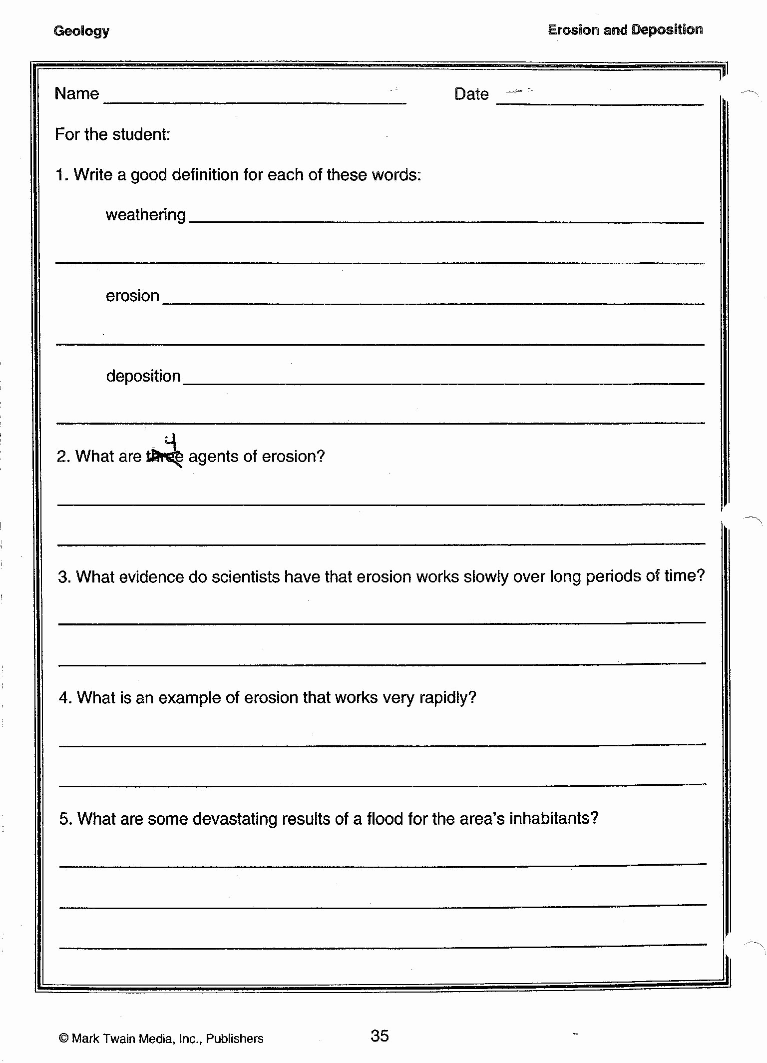 Science Worksheets for 5th Grade Beautiful Environmental Science Worksheets for High School