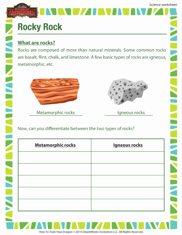Science Worksheets for 5th Grade Elegant Rocky Rock Worksheet – 5th Grade Science Printable Kids – sod