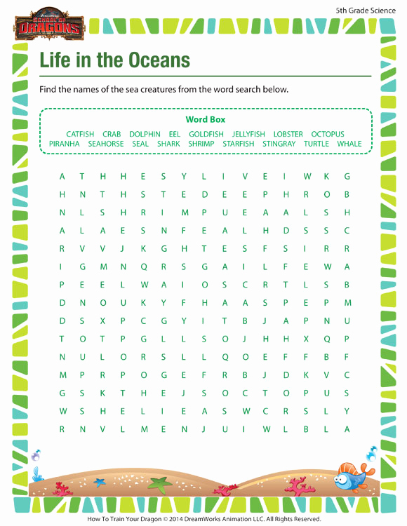 Science Worksheets for 5th Grade Unique Life In the Oceans – Printable Science Worksheet 5th Grade
