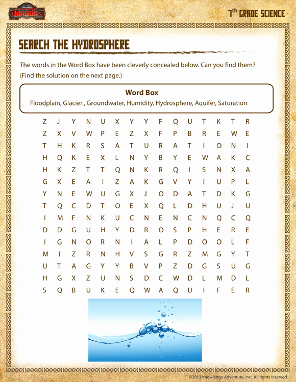Science Worksheets for 7th Grade Beautiful Search Hydrosphere View – Science Worksheets 7th Grade – sod