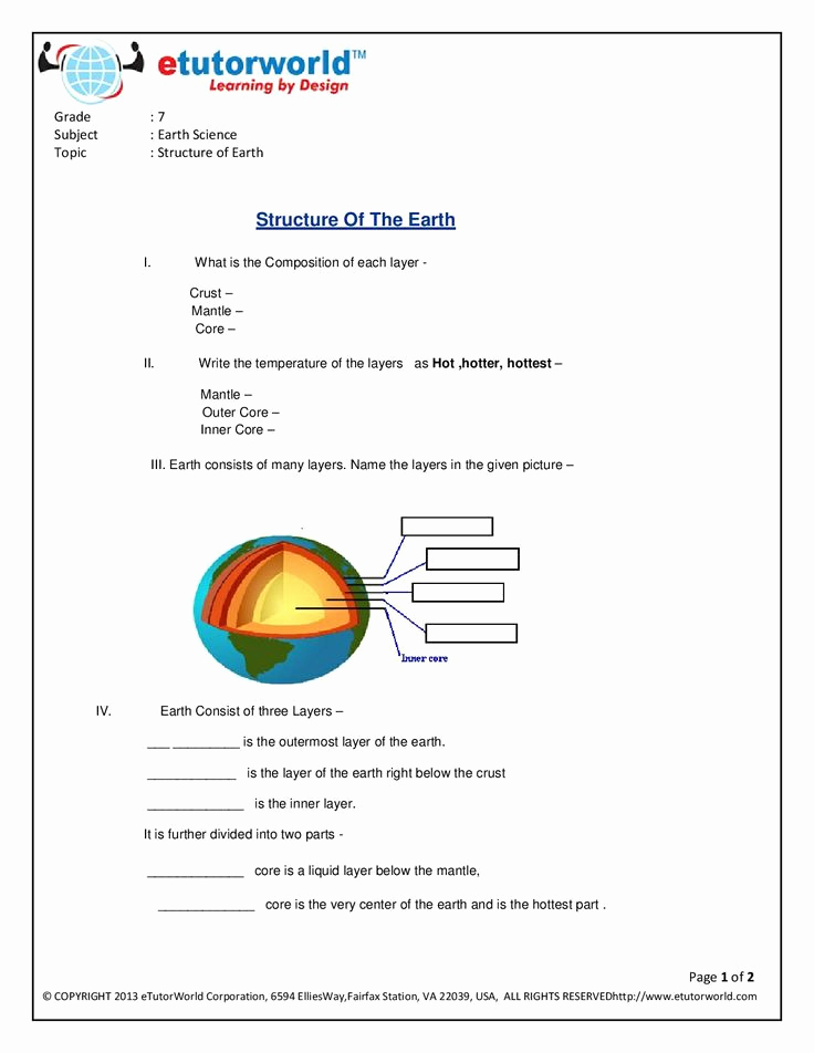 Science Worksheets for 7th Grade New Science Worksheets for Grade 7