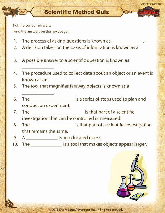 Scientific Method Worksheets 5th Grade Inspirational Scientific Method Worksheet 5th Grade In 2020