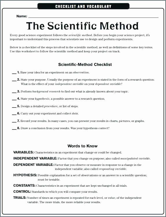 Scientific Method Worksheets 5th Grade Unique Scientific Method Worksheets 5th Grade Scientific Method