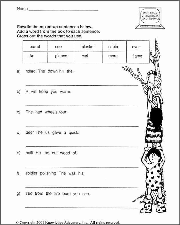Scrambled Sentences Worksheets 2nd Grade Beautiful 15 Best Of Word Unscramble Sentence Worksheet