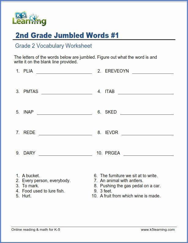 Scrambled Sentences Worksheets 2nd Grade Best Of 20 Free Printable Feelings Worksheets