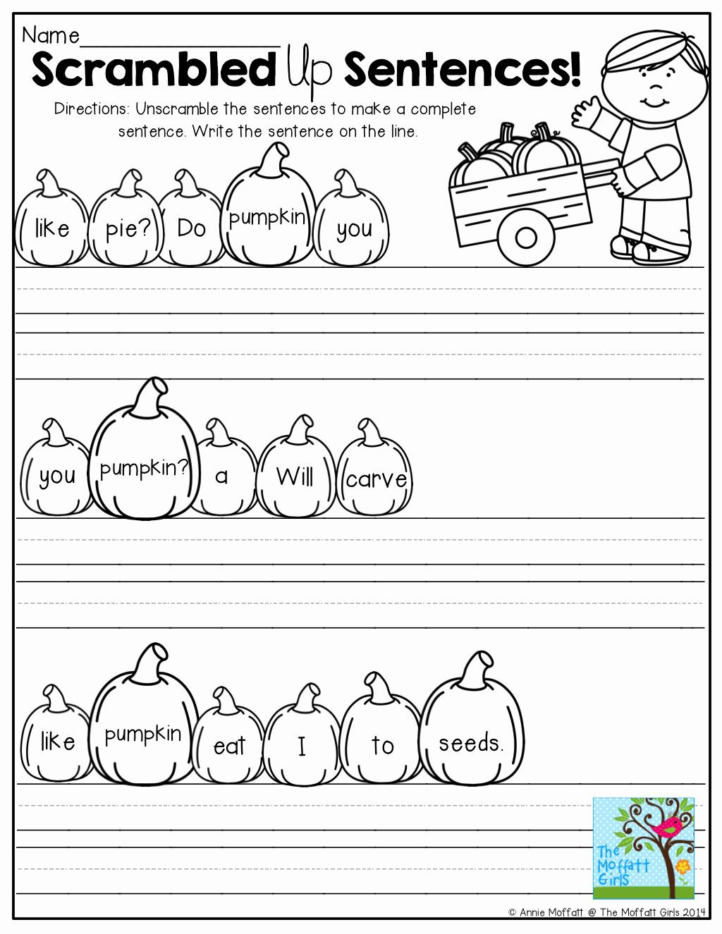 Scrambled Sentences Worksheets 2nd Grade Elegant 100 Unscramble Sentences Worksheet Scrambled Up