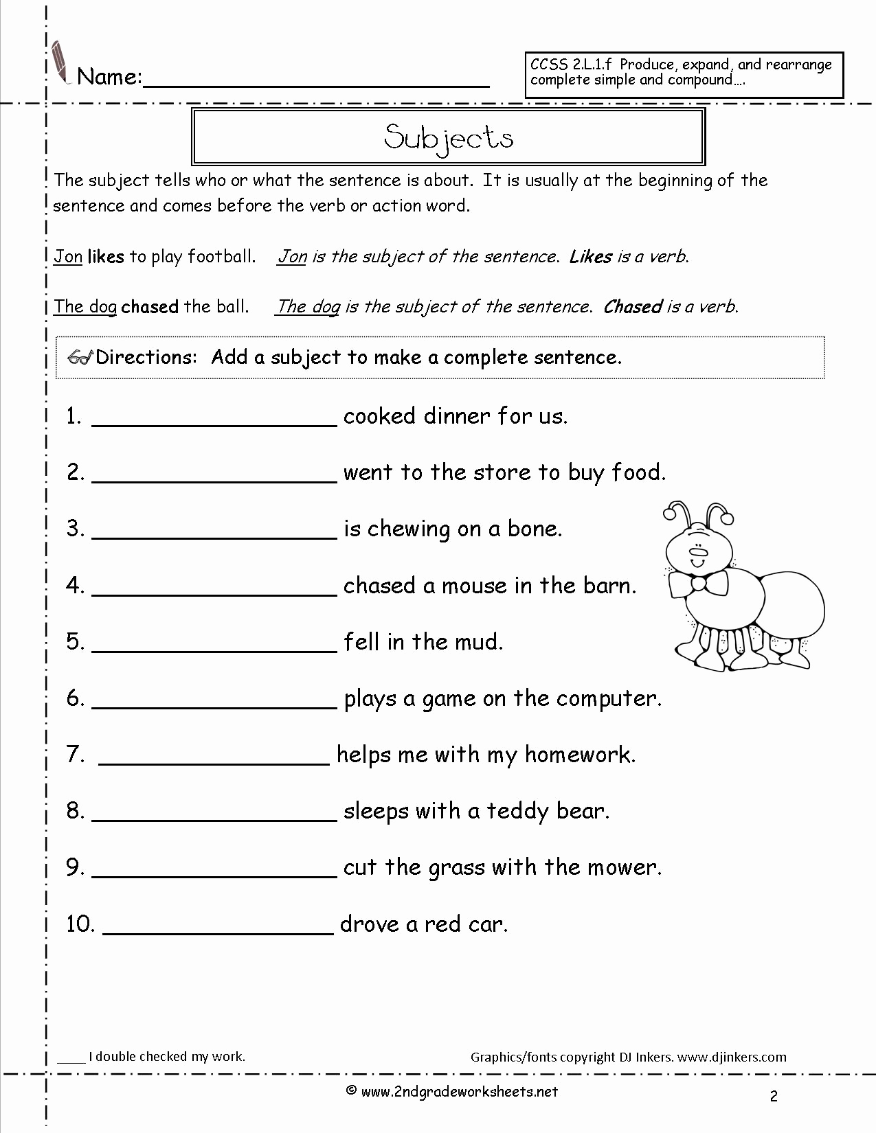 Scrambled Sentences Worksheets 2nd Grade Elegant 17 Best Of Sentence Type Worksheets Types Of