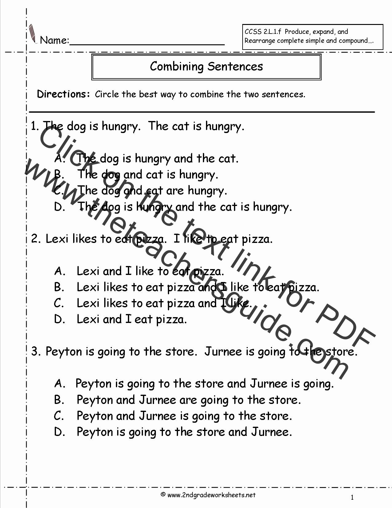 Scrambled Sentences Worksheets 2nd Grade Lovely Perimeter Worksheets 3rd Grade