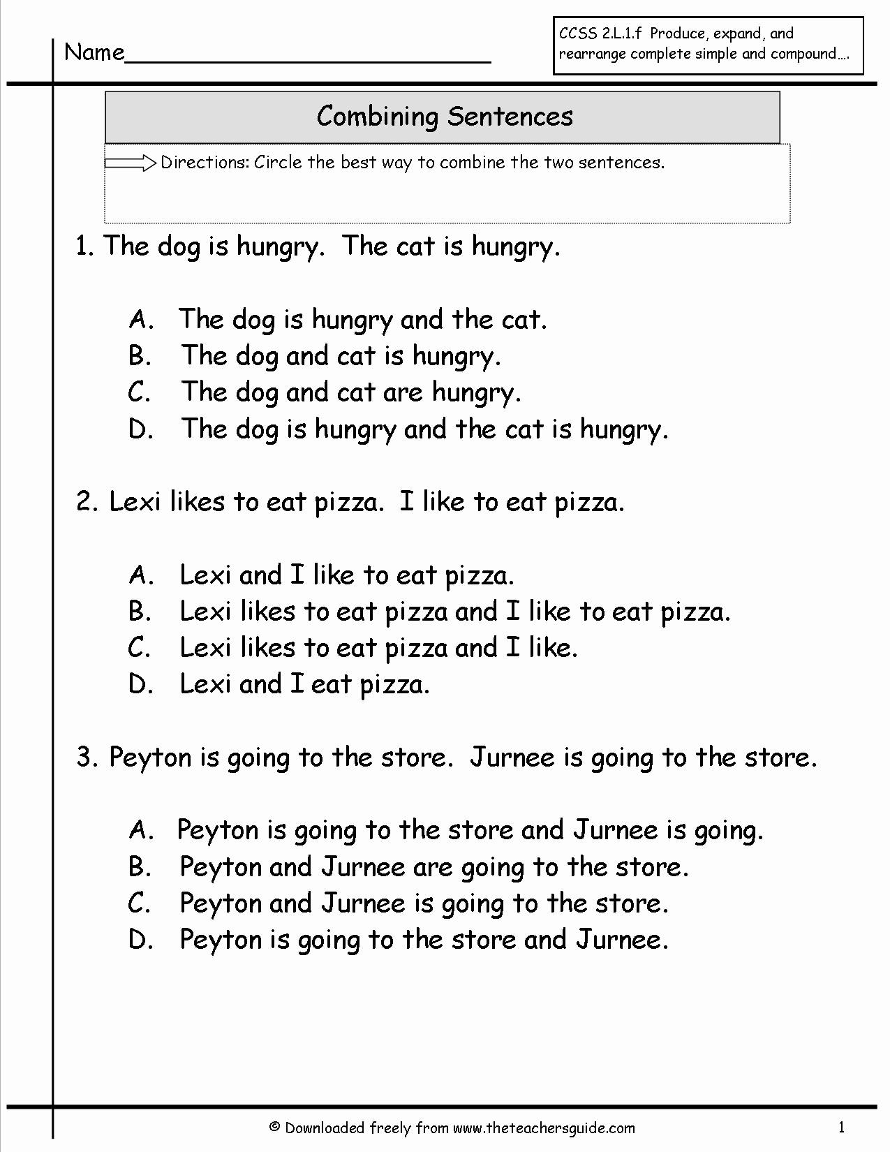 Scrambled Sentences Worksheets 2nd Grade Unique 20 Scrambled Sentences Worksheets 2nd Grade