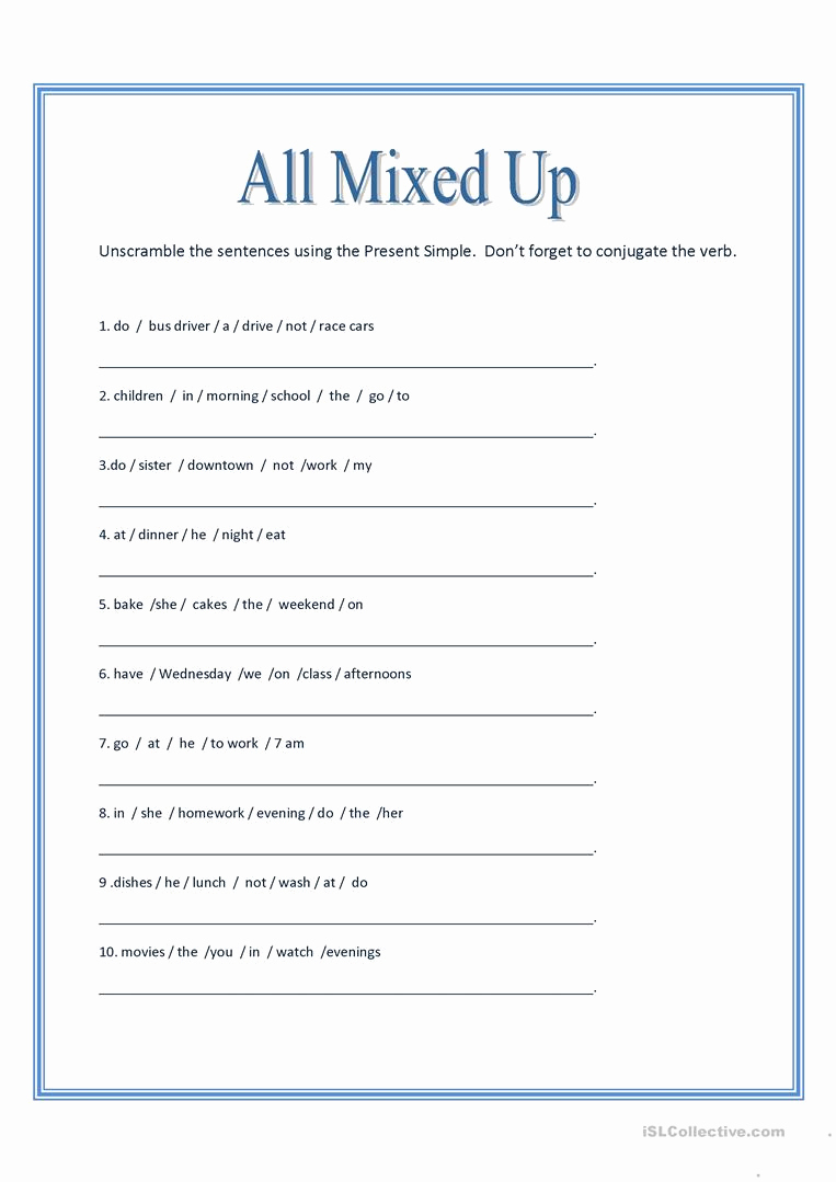 Scrambled Sentences Worksheets 3rd Grade Inspirational Unscramble Sentences Line Games