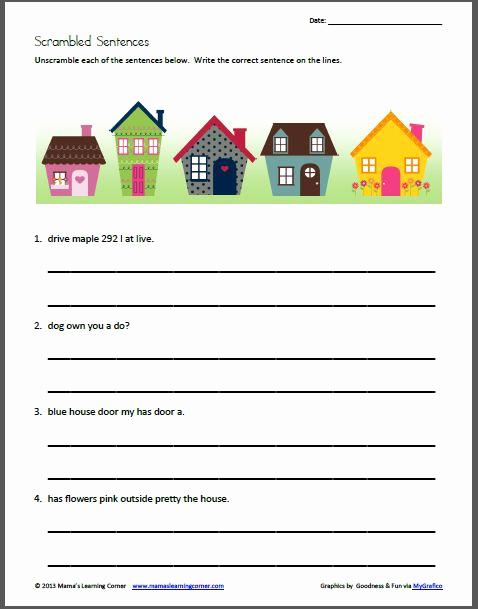 Scrambled Sentences Worksheets 3rd Grade Lovely Pinterest • the World's Catalog Of Ideas