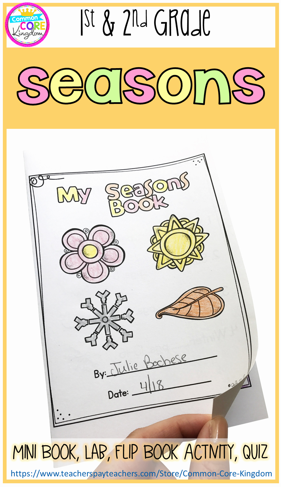 Seasons Worksheets for First Grade Beautiful Seasons Mini Unit 1st & 2nd Grade