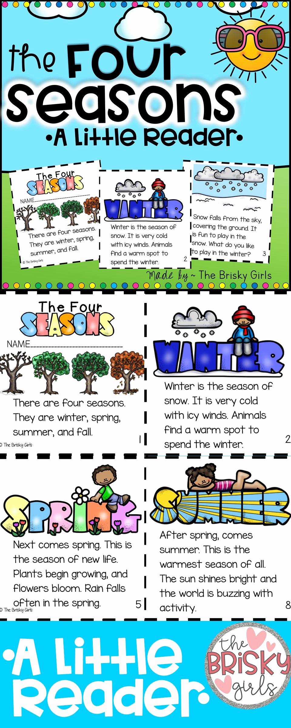 Seasons Worksheets for First Grade Elegant the Four Seasons Reader