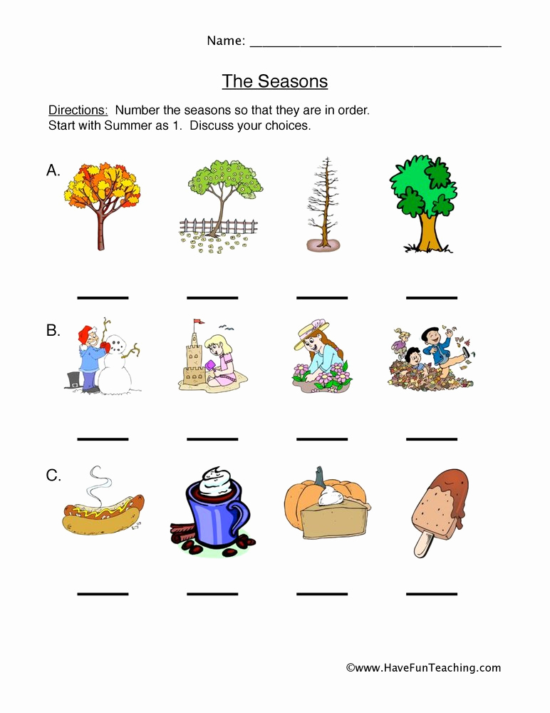 Seasons Worksheets for First Grade Fresh Seasonal Cycles Worksheet