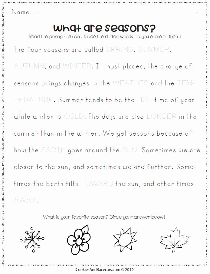Seasons Worksheets for First Grade Fresh Seasons Worksheet Pack