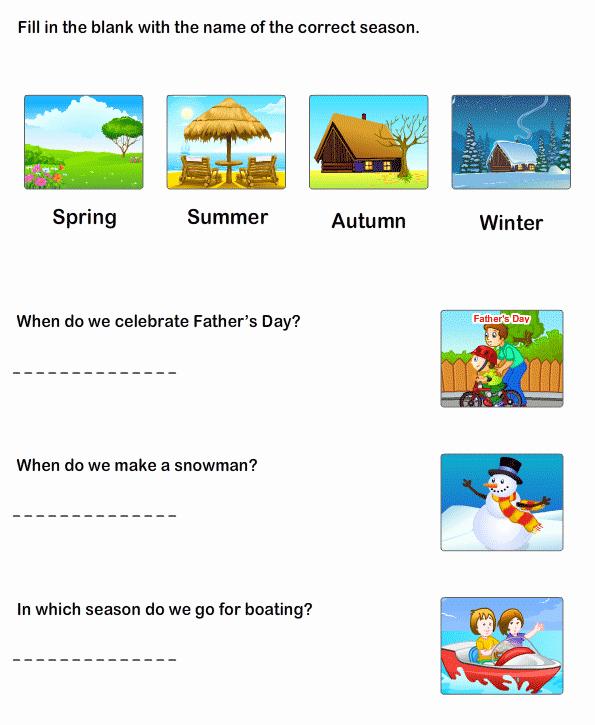 Seasons Worksheets for First Grade Inspirational Print Season Worksheets Free