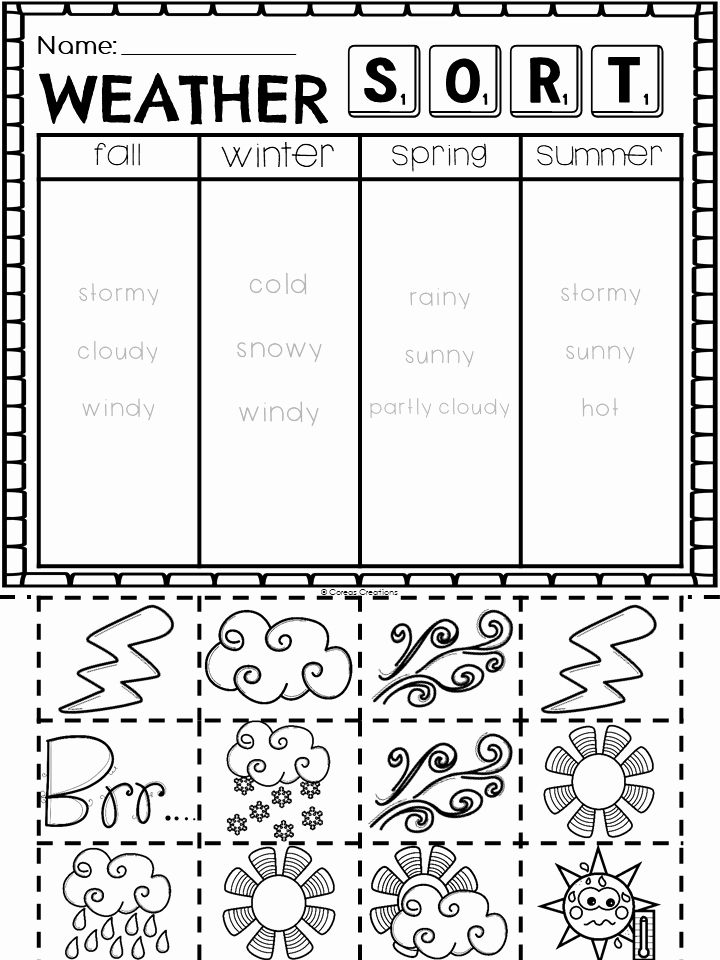Seasons Worksheets for First Grade Inspirational Weather and Seasons Seasonal Changes Unit