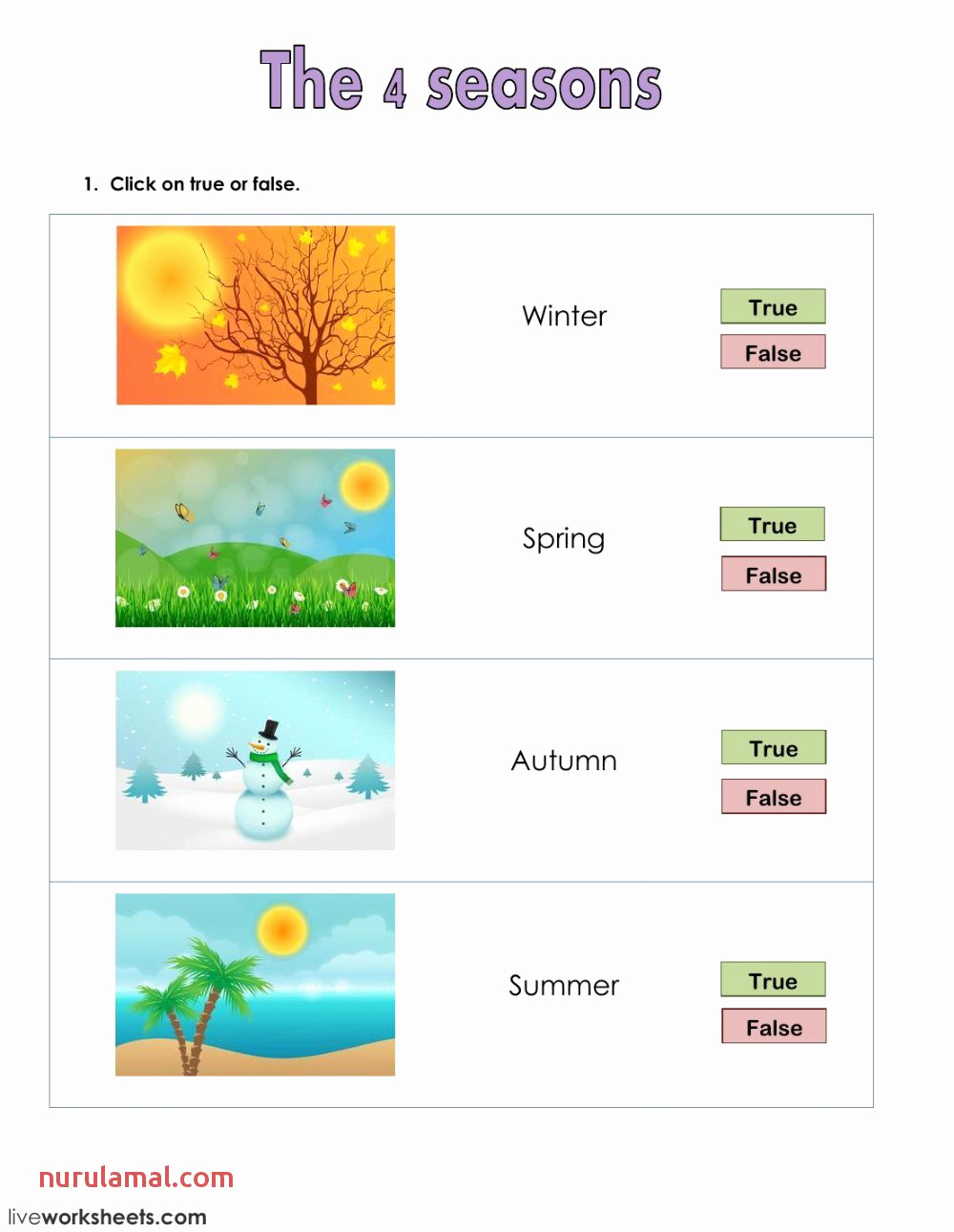 Seasons Worksheets for First Grade Unique Seasons Worksheets First Grade в 2020 г