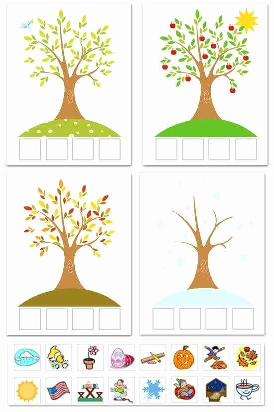 Seasons Worksheets for Preschoolers Awesome Four Seasons sorting Activity Free Printable