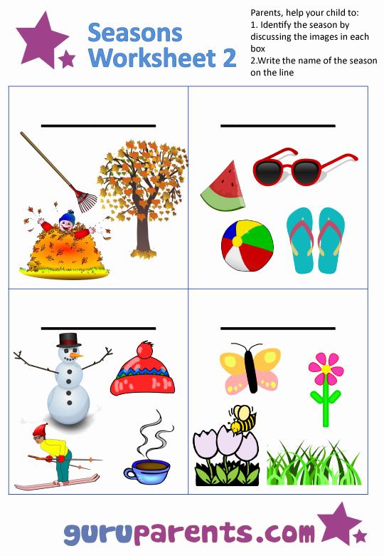 Seasons Worksheets for Preschoolers Awesome Seasons Worksheets