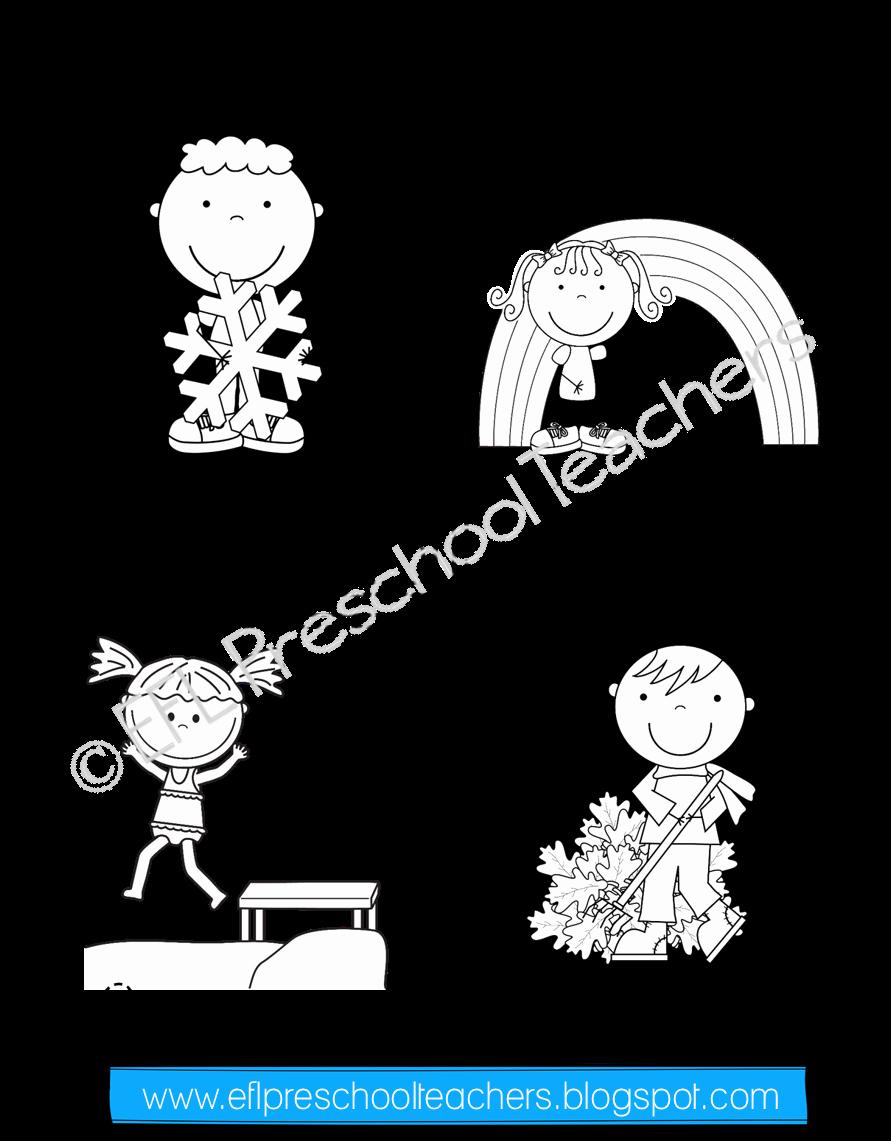 Seasons Worksheets for Preschoolers Best Of Seasons Unit Worksheets for Preschool Esl