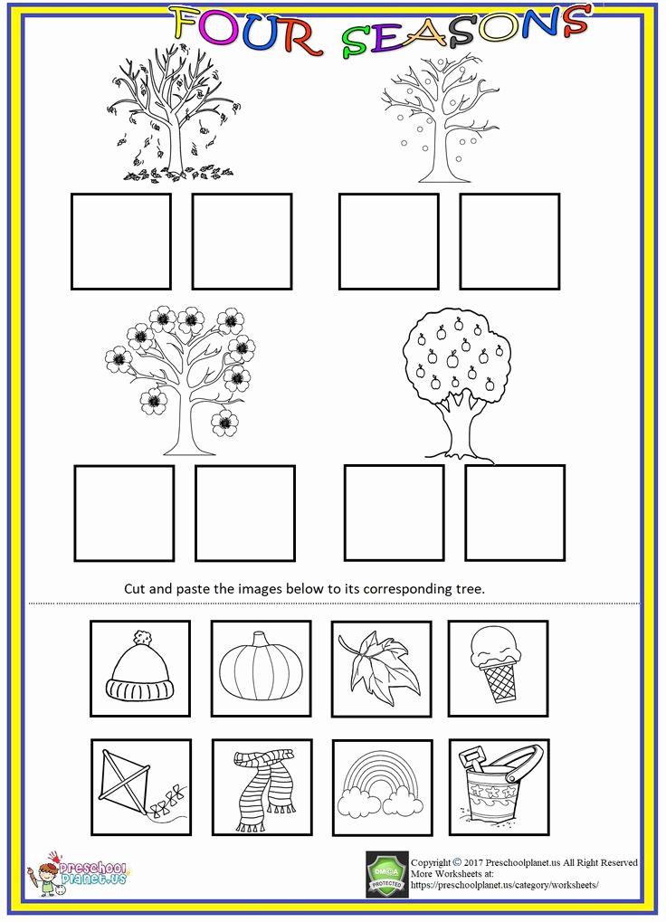 Seasons Worksheets for Preschoolers Elegant Pin On Worksheet for Kids