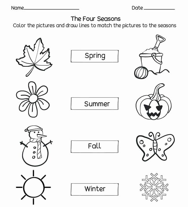 Seasons Worksheets for Preschoolers Inspirational Learning the Seasons Worksheets