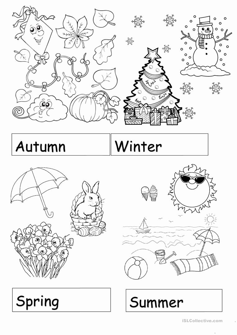 Seasons Worksheets for Preschoolers Inspirational Seasons Page 4 Worksheet Free Esl Printable Worksheets