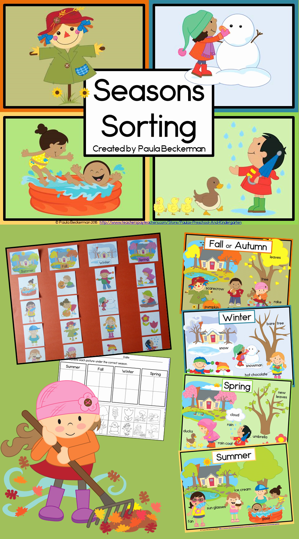 Seasons Worksheets for Preschoolers Lovely Four Seasons Picture sorting Posters and Worksheet