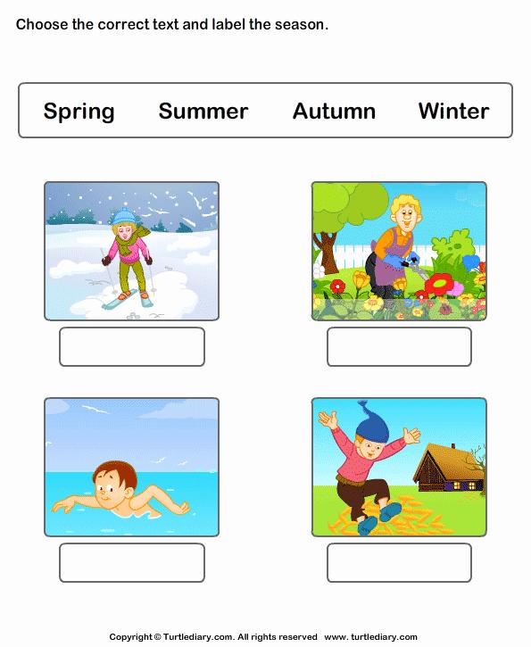 Seasons Worksheets for Preschoolers New Seasons Of the Year Worksheets Worksheet Turtle Diary